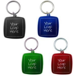 Colored Aluminum Keychain - Square